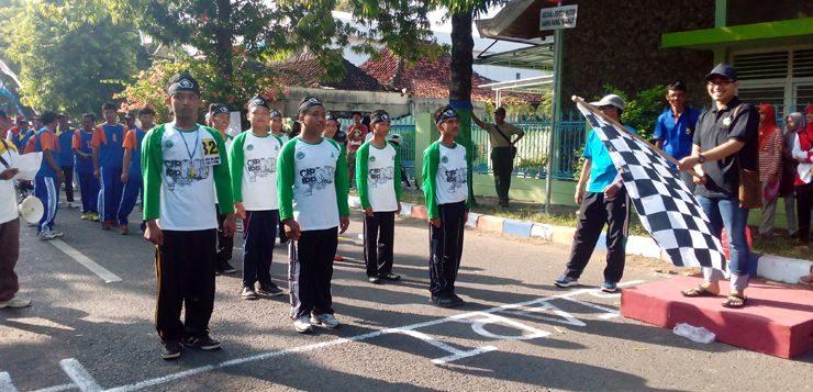 Lomba Gerak Jalan Cepat 8 Km, IPNU Rembang Kenalkan CBP
