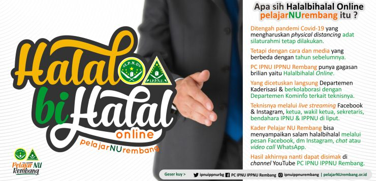 Halalbihalal Online Pelajar NU Rembang Sapa Kader Seluruh Nusantara