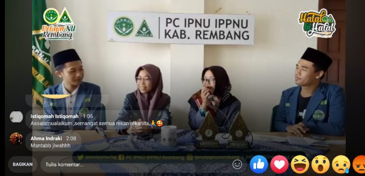 Melalui Halalbihalal Online, Pelajar NU Rembang Dongkrak Semangat Gotong Royong Anak Bangsa